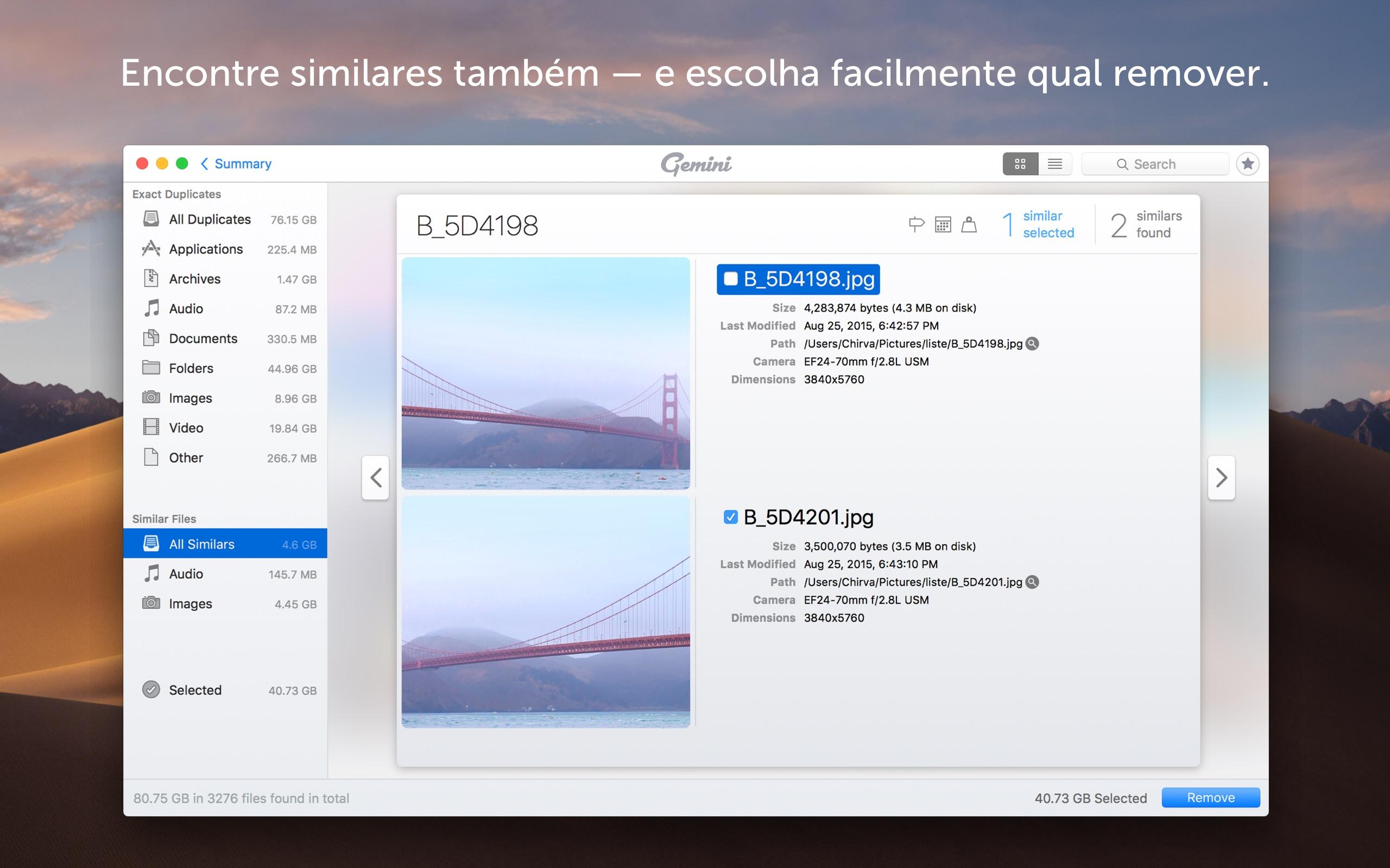 Screenshot do app Gemini 2: The Duplicate Finder