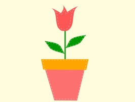 Potted Tulip Stickers