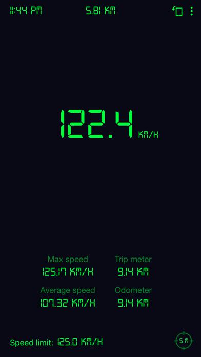 Screenshot of Tachimetro GPS: contachilometr3