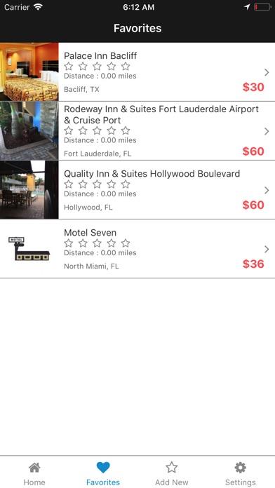 Screenshot of 20DollarRooms App