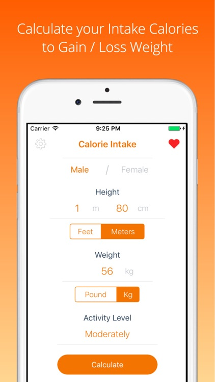 Calories Intake Calculator