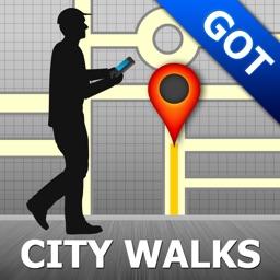 Gothenburg Map & Walks (F)
