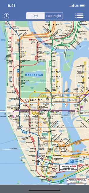Late Night Weekend Subway Map Ny.New York Subway Map Offline On The App Store