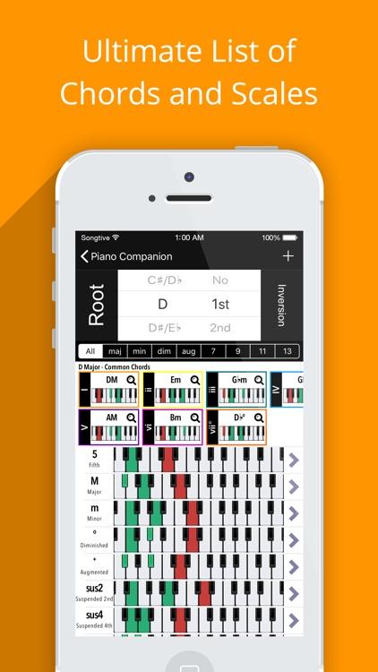 Piano Chords Companion PRO screenshot-0