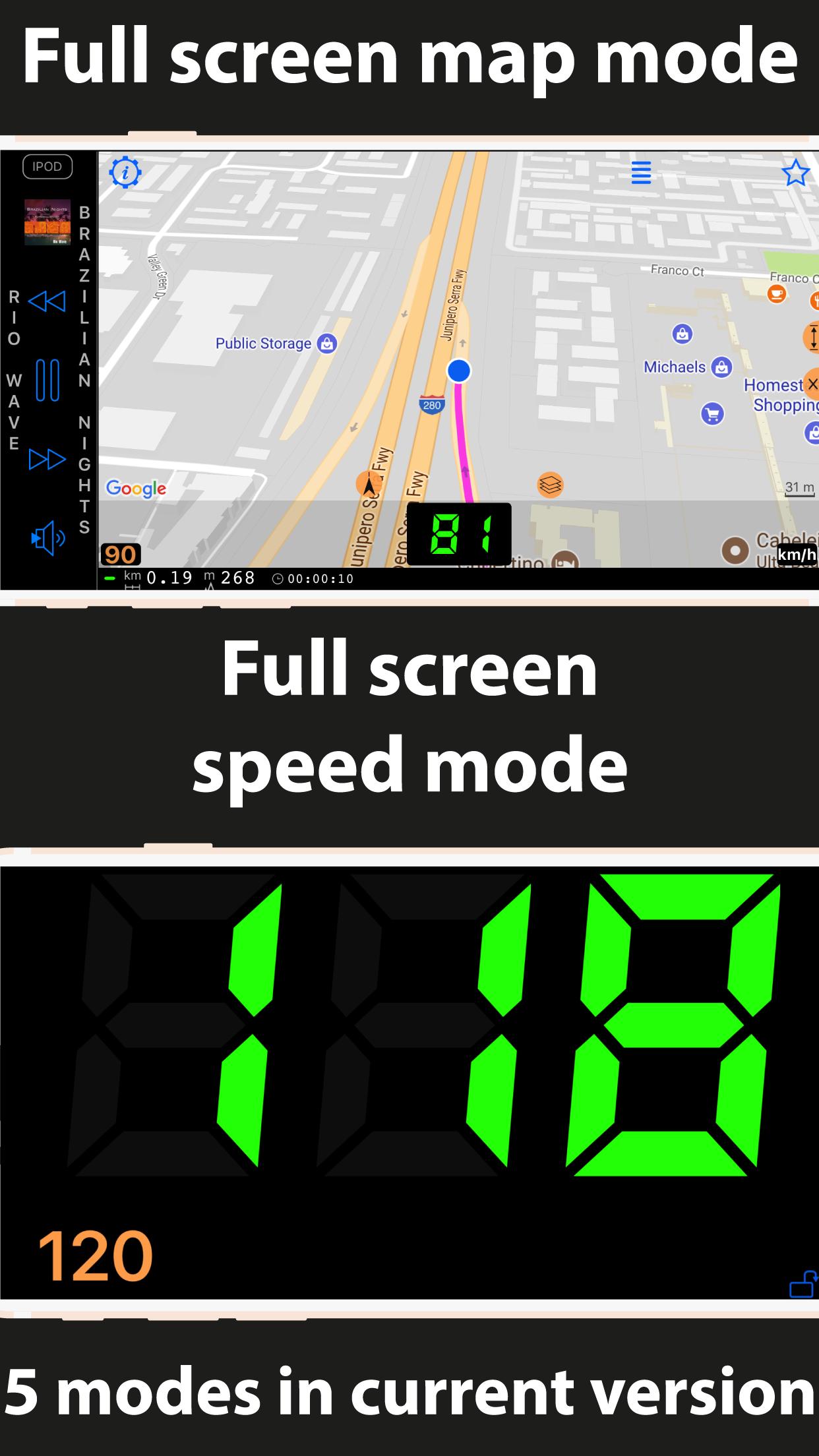 Speedometer 55 GPS Speed & HUD Screenshot