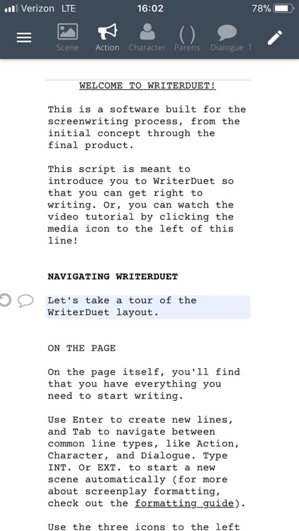 WriterDuet screenshot-3
