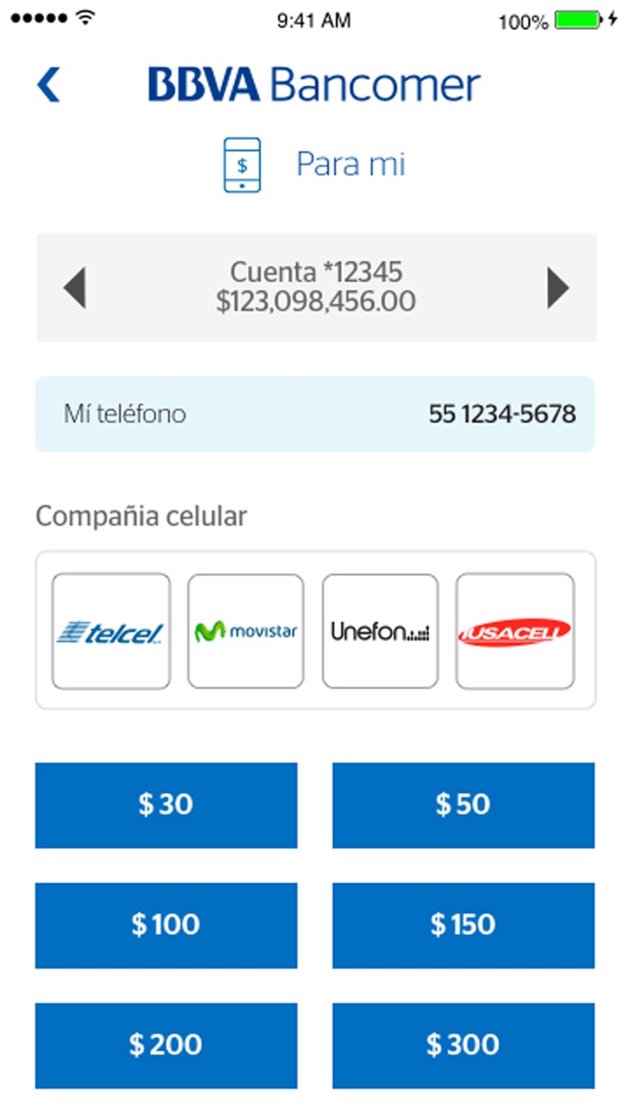 Bancomer móvil Screenshot
