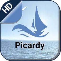 Picardy offline nautical cruising & fishing charts