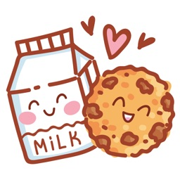 Cookies Milk & Coffee love