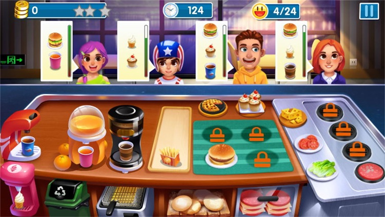 做饭游戏:模拟经营做汉堡游戏