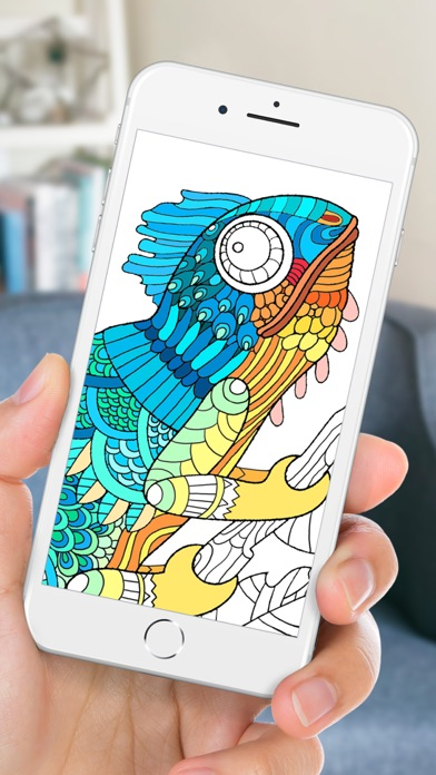 Adult Coloring Book | Animals Screenshot on iOS