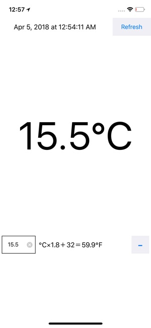 Degrees Celsius By GPS On The App Store