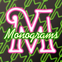 Neon Monogram FREE - Designer Wallpaper, Icon Skin Monograms and Customized Backgrounds