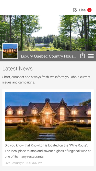 点击获取Luxury Quebec Country House