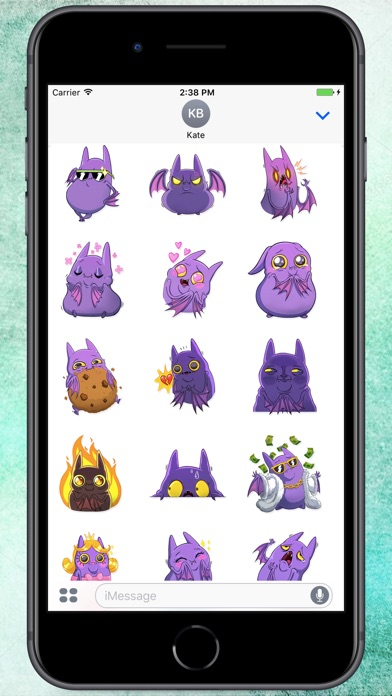 Screenshot for Lovely Batty Stickers in Colombia App Store