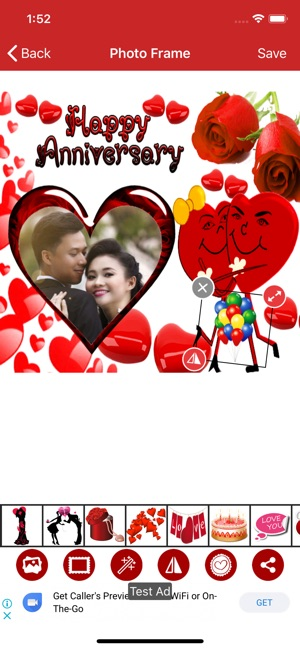 Anniversary photo frames on the App Store
