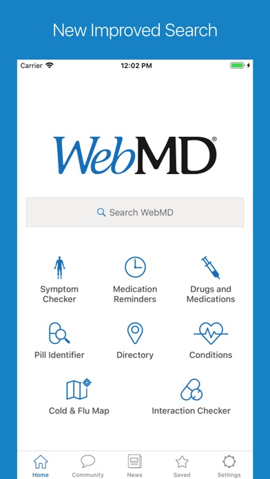 WebMD screenshot one