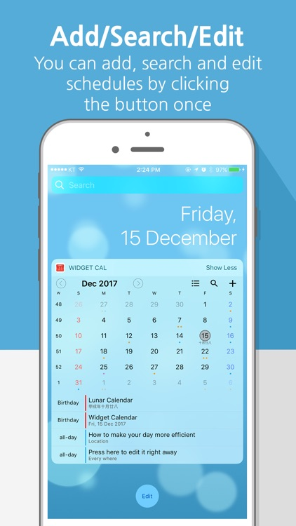 Widget Calendar : Easy&Simple screenshot-0