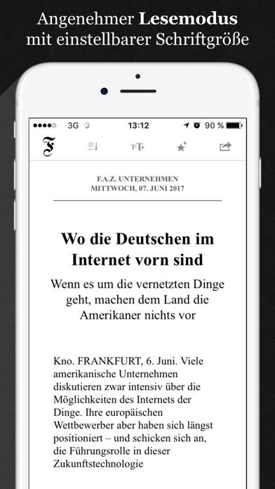 F.A.Z. Kiosk - E-Paper zur Zeitung app image