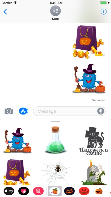 Happy Halloween Sticker Boo