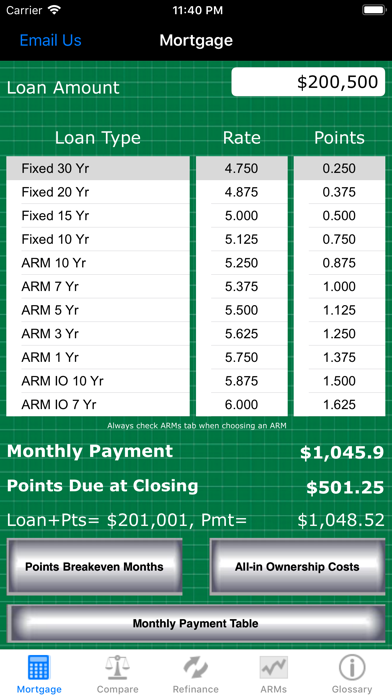 Mortgage Calc Pro review screenshots