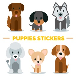Cute Puppies Stickers!