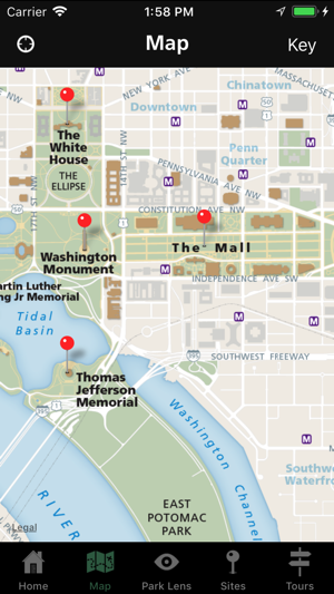 Mall Dc Map.Nps National Mall On The App Store