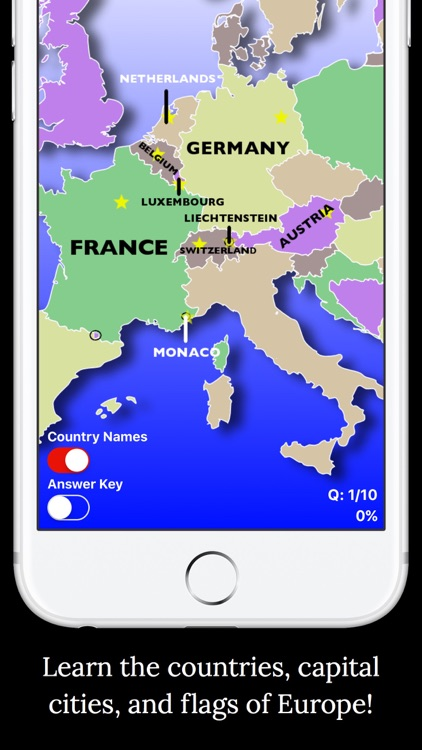 PP's Europe Geography Quiz Edu by Peaceful Pencil Ltd , The