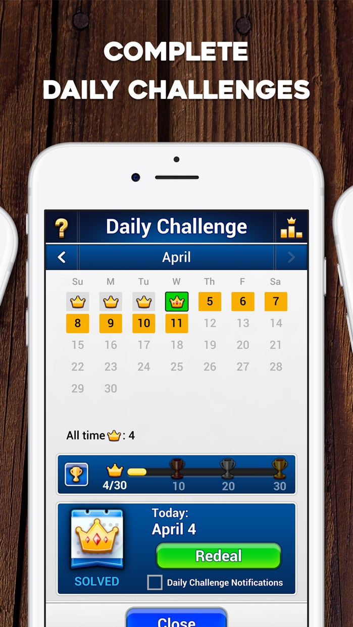 TriPeaks Solitaire: Card Game Screenshot