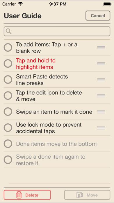 I Do Lists screenshot