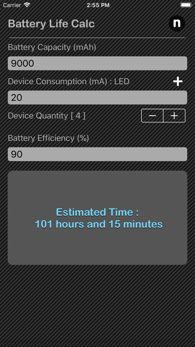 点击获取Battery Life Calculator