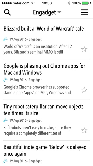 Newsbar Rss Reader review screenshots