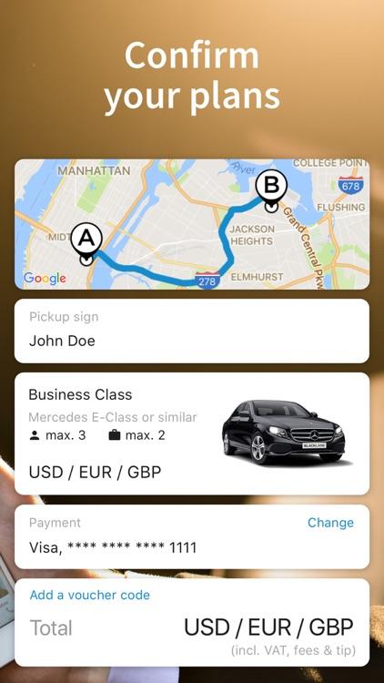 Blacklane - Airport Transfers screenshot-3