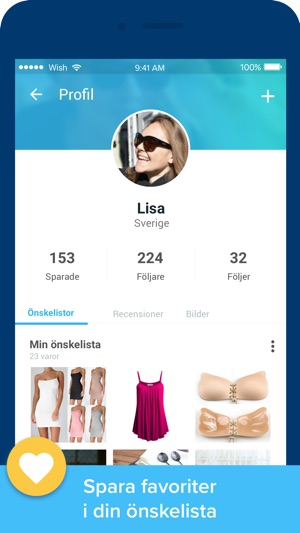 handla på wish shopping