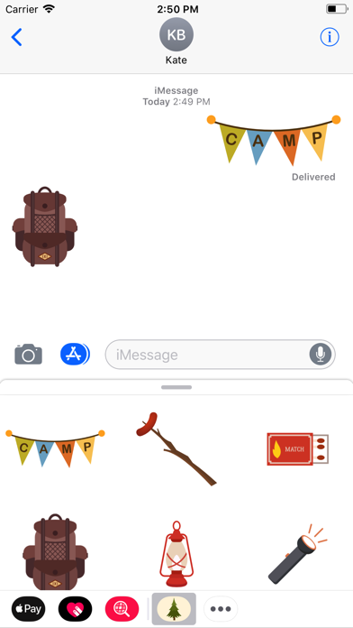 Screenshot for Camping Stickers in Egypt App Store