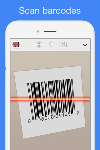 Screenshot of QR Reader for iPhone