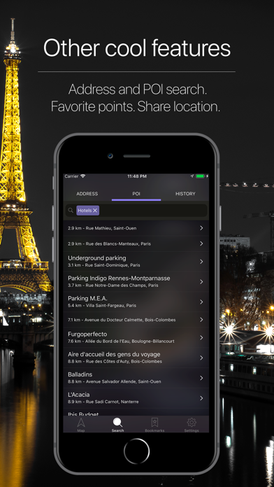 France Offline Navigation Screenshot