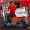在城市的比萨饼送货