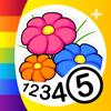 Colorear por números - Flores+