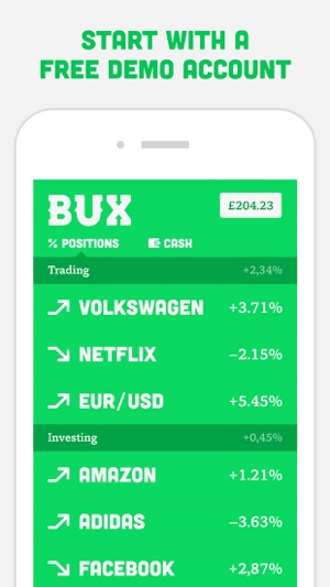 bux mobile trading on the app store. Black Bedroom Furniture Sets. Home Design Ideas