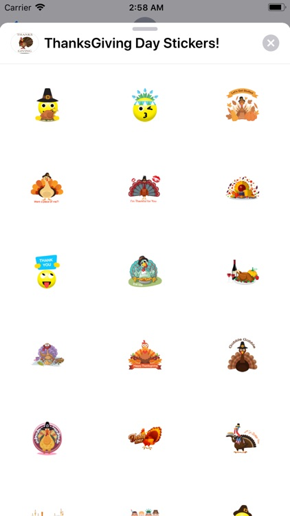ThanksGiving Day Stickers!