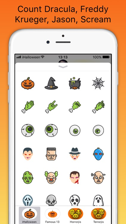 iHalloween scary stickers screenshot-4