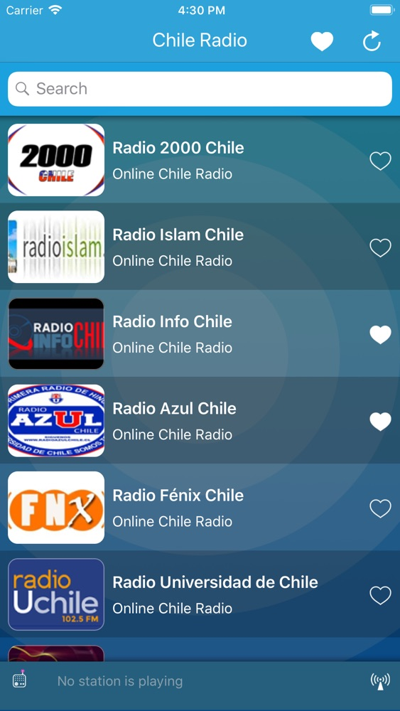 Chile Radio : Online Stations App for iPhone - Free Download Chile