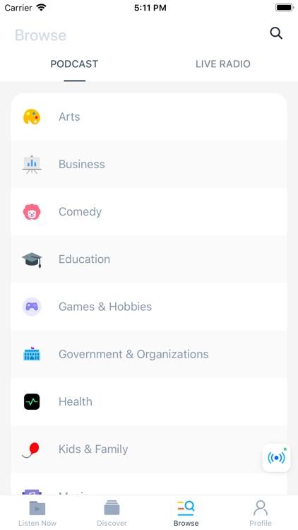 Moon FM - The Podcast App screenshot-7