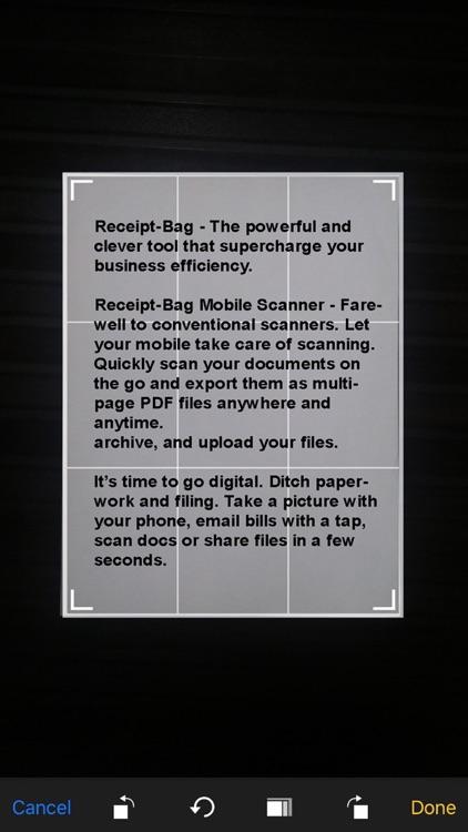 Receipt-Bag Document Scanner screenshot-5