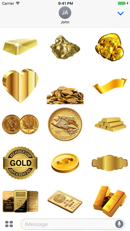 Gold Stickers Pack