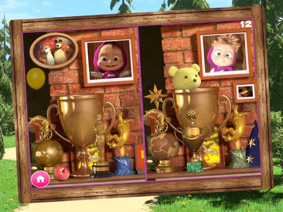 Ipad Screen Shot Masha and the Bear Games 3