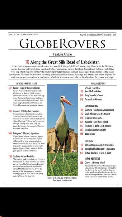 Globerovers Magazine Screenshot