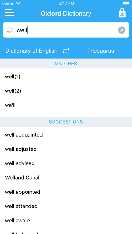 Oxford Dict. & Conc. Thes. screenshot-1