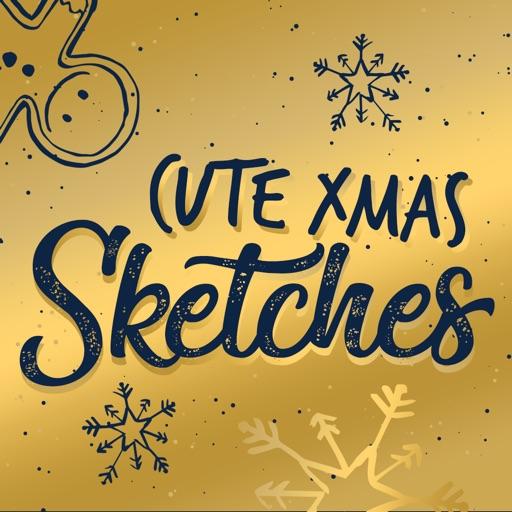 XMAS Sketches Doodle Style icon